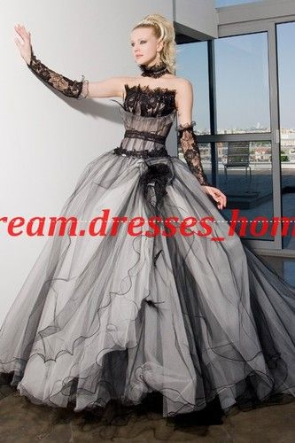 New Style Black and white Quinceanera Dress wedding dresses Pageant gown custom