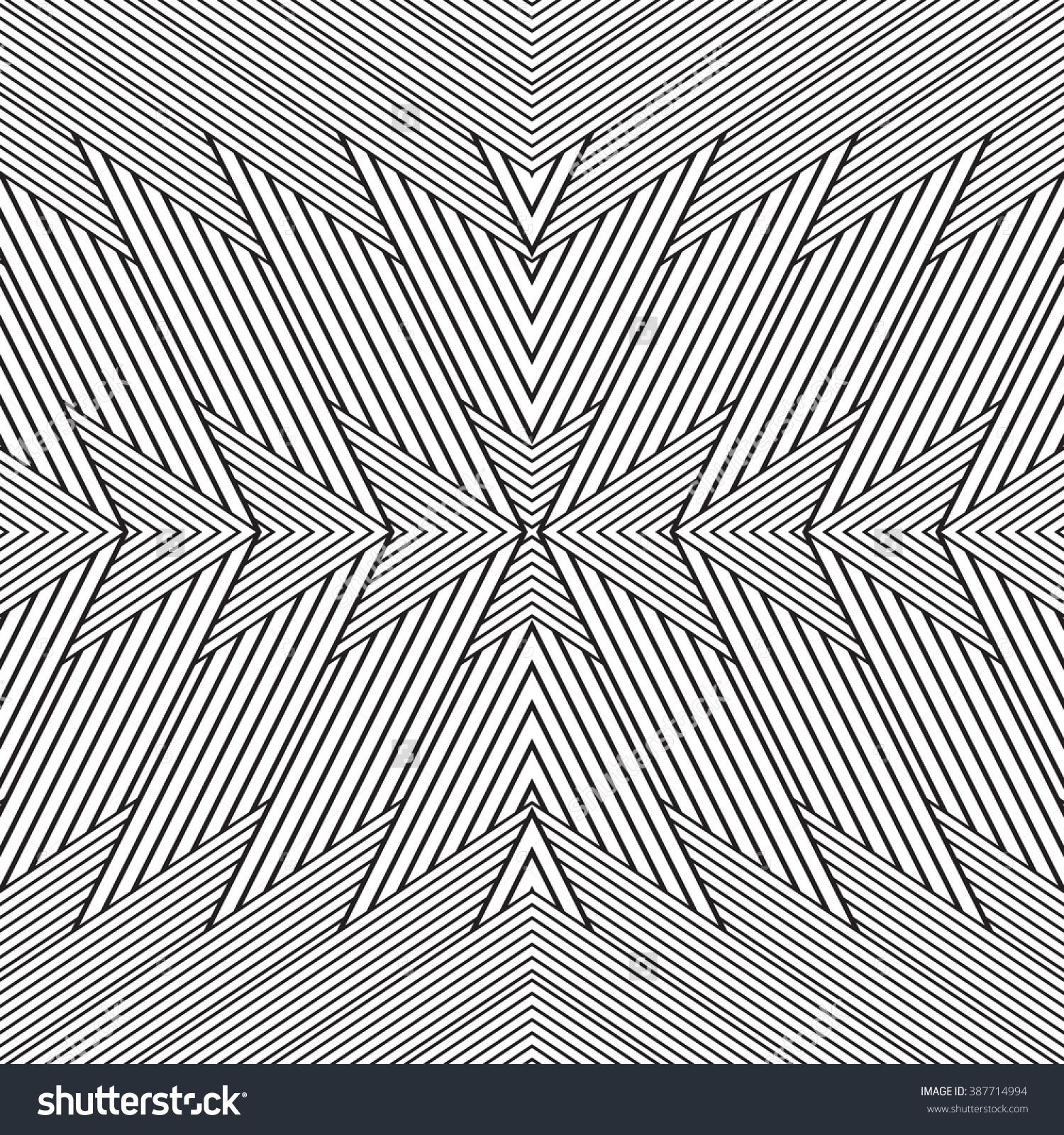 black and white geometric seamless pattern  simple regular