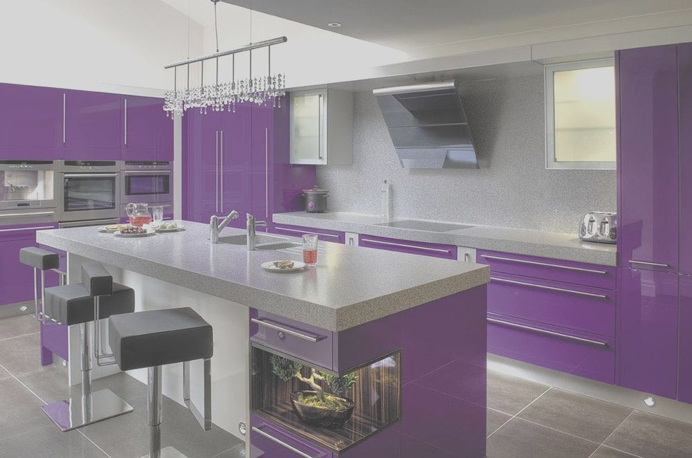 11 Satisfying Purple Decor Kitchen Photos In 2020 Purple Kitchen Purple Kitchen Appliances Purple Kitchen Cabinets