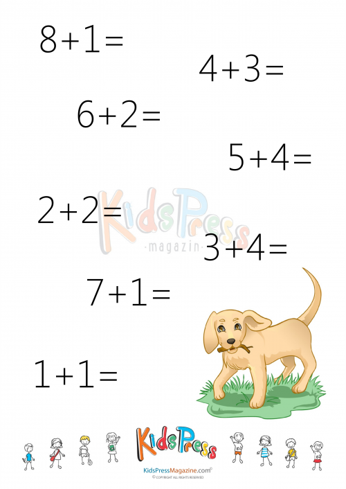 Sums to 20 Worksheet 7 – Cool Math Worksheets for Kindergarten