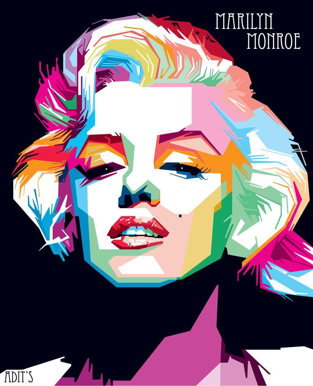 Monroe Wpap By Adityasp Deviantart Com On Deviantart Marilyn Monroe Pop Art Wpap Art Pop Art Portraits