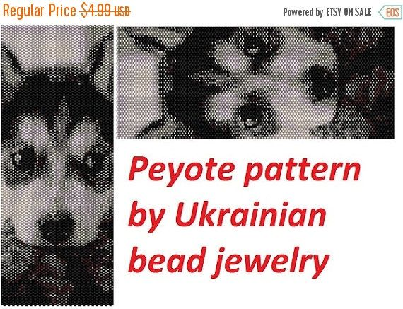 SALE Dog peyote pattern for seed beads by UkrainianBeadJewelry                                                                                                                                                     More