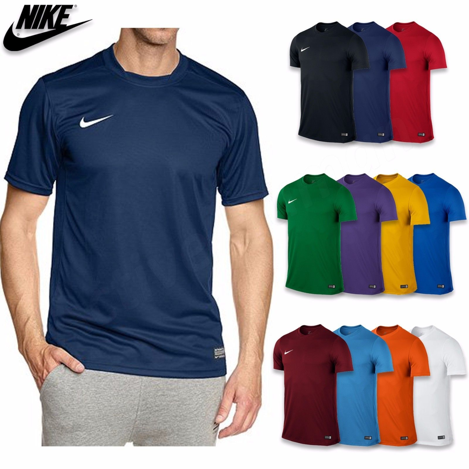 New Mens Nike Gym Sports Tee T-Shirt,100% Genuine !100% Polyester - Top  Size   S, M, L, XL, XXL - Colors   Black, Navy, Red, Blue - Price    11.47  ... 6b5e3d196a