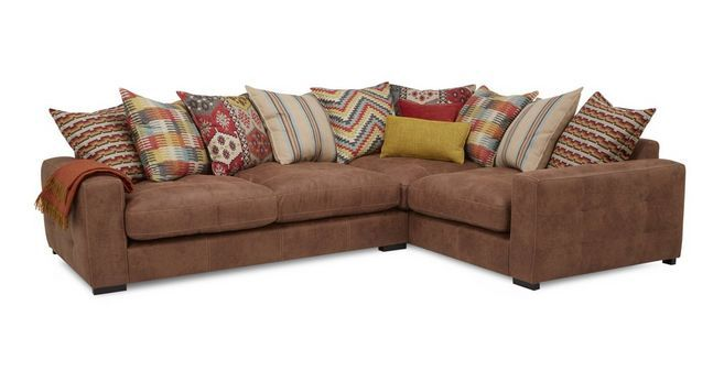 Turin Left Hand Facing 3 Seater Pillow Back Corner Sofa Dfs Home