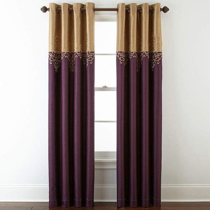 ROYAL VELVET Royal Velvet Captiva Grommet-Top Curtain