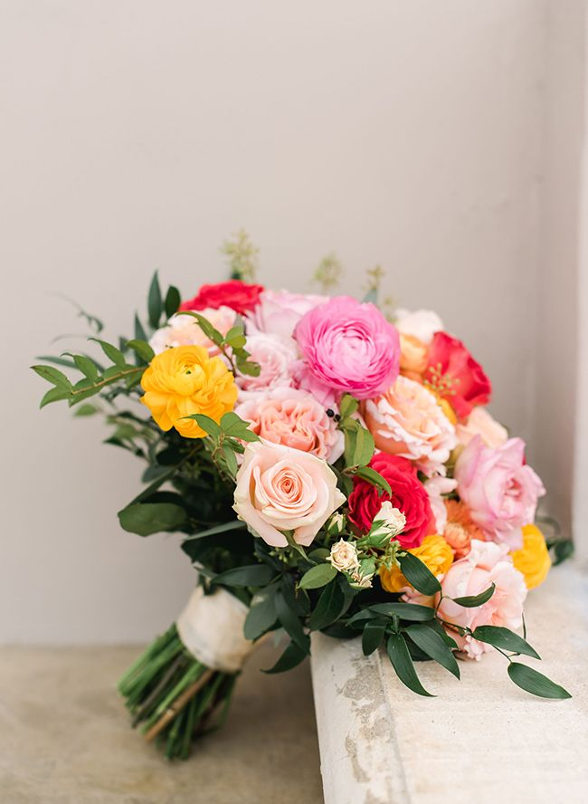 Inspired By This Bright Spring Wedding Inspired by Florals