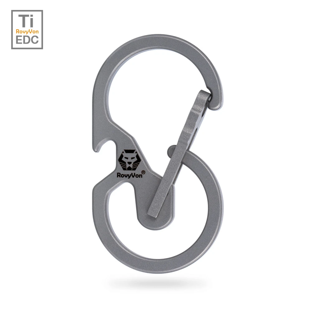 Stainless Steel Quick Release Carabiner Clip Hanging Buckle Key Ring UK Stock