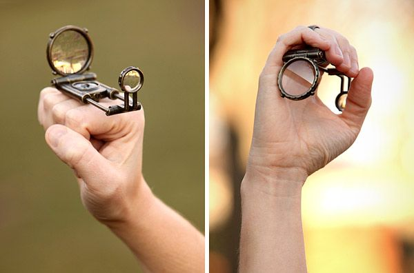 Steampunk telescope/magnifying glass ring