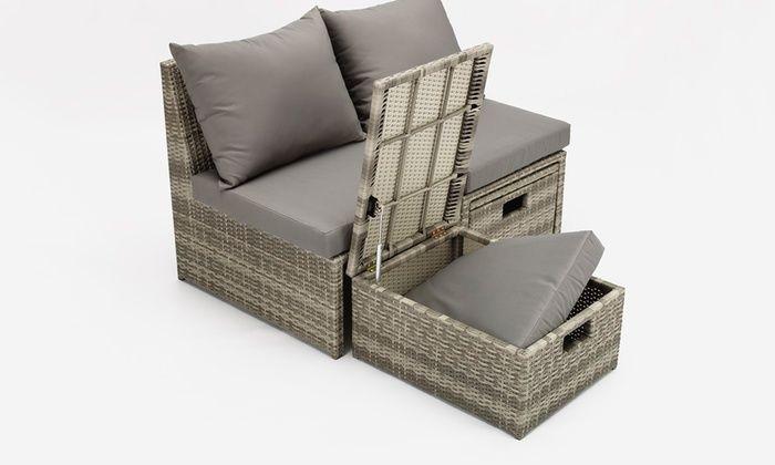 Davis And Grant Four Piece Pe Rattan Garden Furniture Set With
