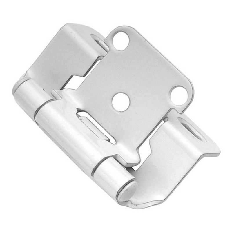 Pair Of Hickory White Partial Wrap 1 2 Overlay Cabinet Hinges P2710f W2 Hickory Hardware Overlay Cabinet Hinges Overlay Hinges