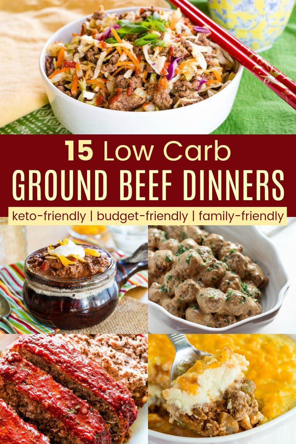 15 Best Keto Ground Beef Dinner Recipes Easy Low Carb And Gluten Free Dinners That Are Family Fri Dinner With Ground Beef Beef Dinner Beef Recipes For Dinner