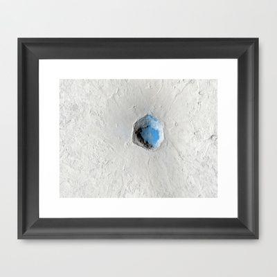 Volcano on Mars Framed Art Print by Planet Prints - $31.00