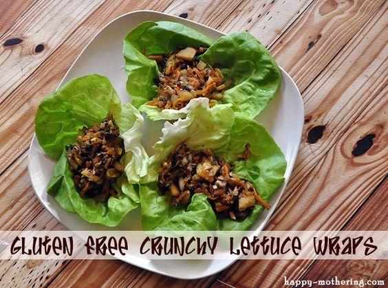 Gluten Free Crunchy Mushroom Lettuce Wraps