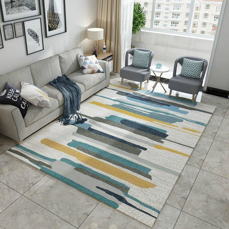 Geometric Simplicity Carpet Rugs In Living Room Stunning Rugs