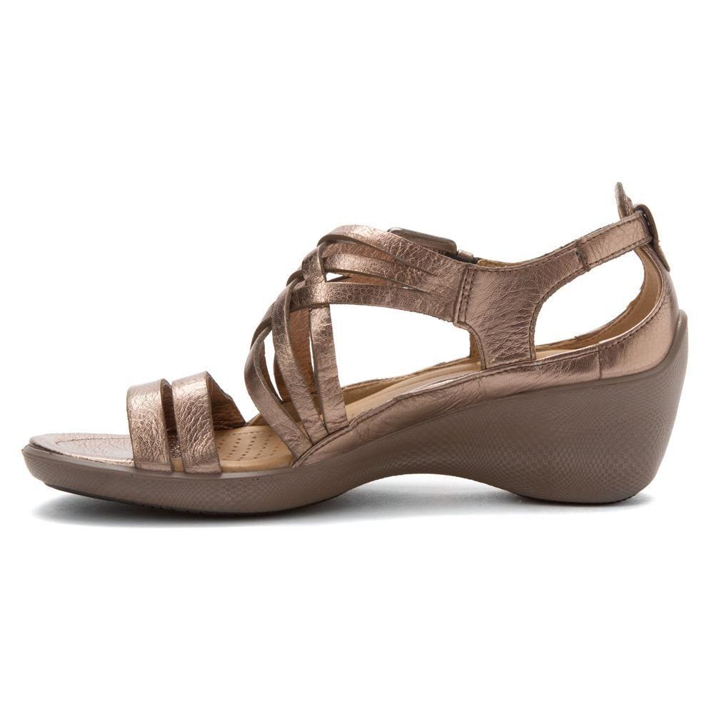 a7e2856c177f ECCO Women s Sculptured Sign Strap Sandal Sandals in Wm Grey ...