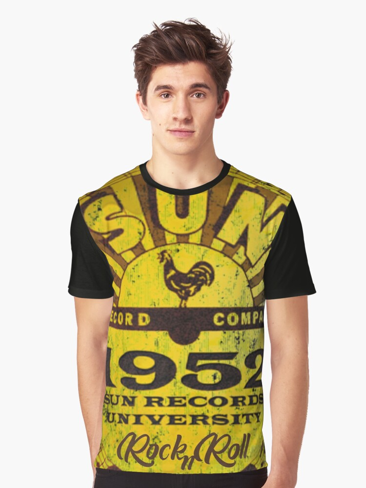 'Sun Records RocknRoll 1952 t-shirt' T-Shirt by RS-Customstylez #rockandrolloutfits