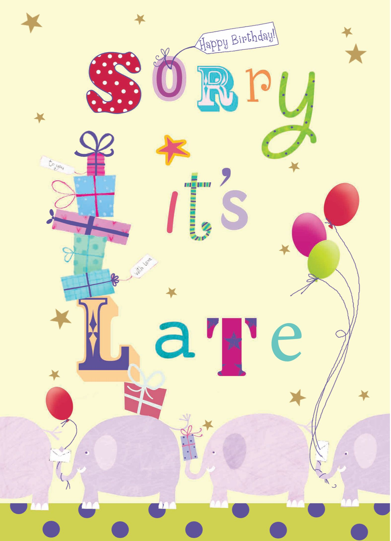 Late birthday wishes Birthdays Pinterest – Late Birthday Card Messages