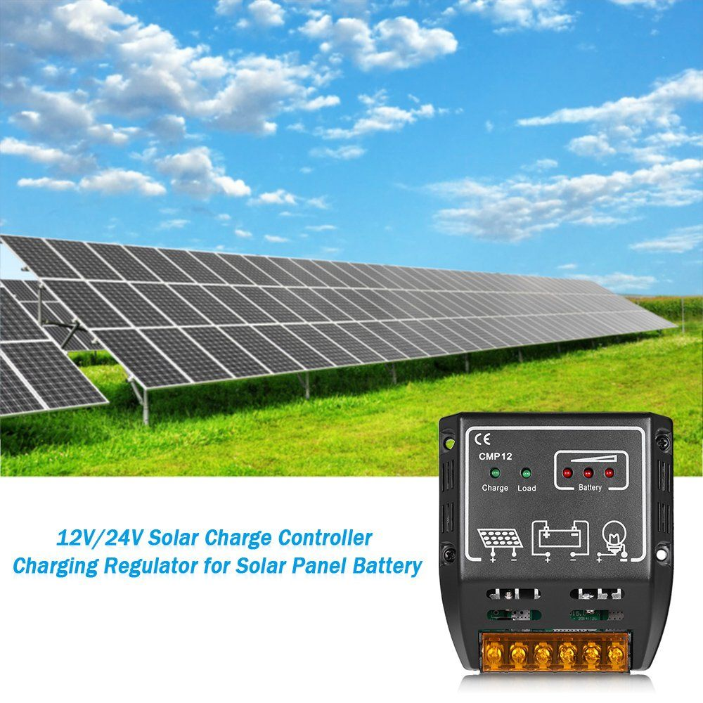 Anself Solar Charge Controller Charging Regulator For Solar Panel Battery Overload Protection 11a Ad Controller A Solar Panel Battery Solar Panels Solar
