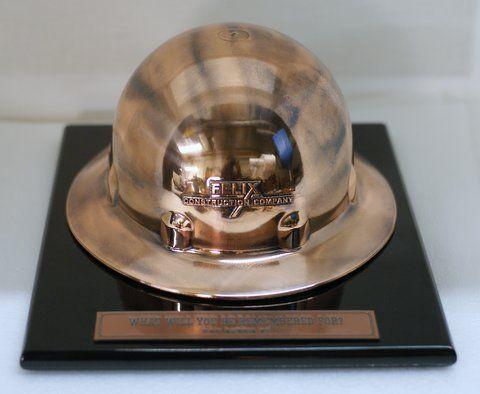 f489c80ee79 Bronzed Hard Hat Award. www.bronzery.com