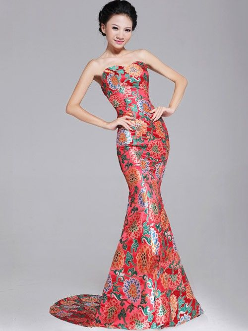 Fishtail Cheongsam / Qipao / Chinese Wedding / Evening Dress ...