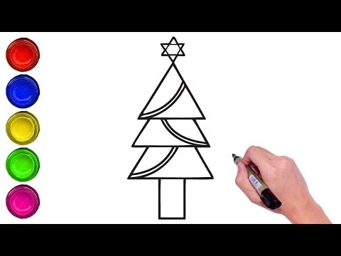 How To Draw Easy Christmas Tree Step By Step Kids Christmas Drawing Simple Steps Learn To Draw Chr In 2020 Christmas Drawing Simple Christmas Simple Christmas Tree