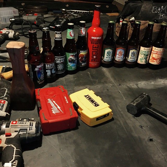 When you start a project you need to make sure you have the right tools at hand! #Beer #CraftBeer #Local08% #LiverBashers #PorterCable
