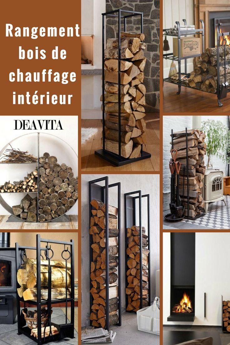 Rangement bois de chauffage intérieur : idées chics de support à bûches | Rangement bois ...