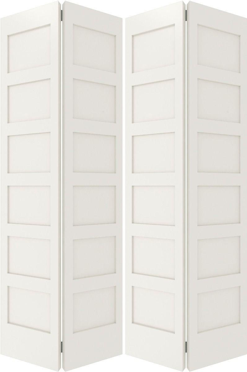 6100bf Sh Mdf 6 Panel Shaker Interior Bifold 4 Door In