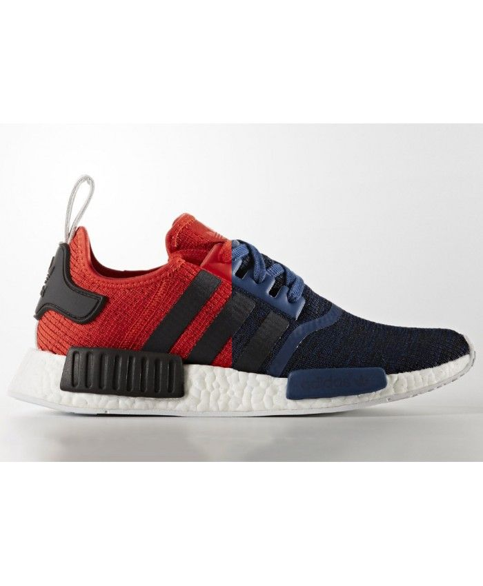 Adidas NMD R1 Deep Red With Black Stripes Shoes Using high-quality  materials and very