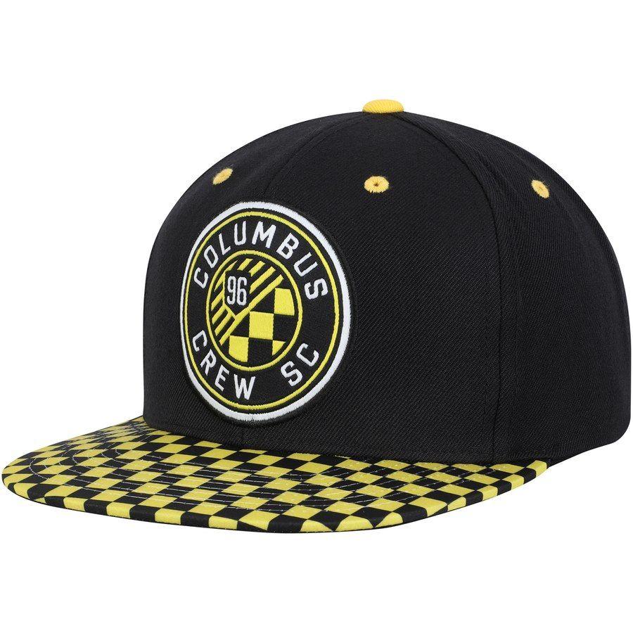 46fc76727c37f Men s Columbus Crew SC Mitchell   Ness Black Diamond Adjustable Snapback Hat