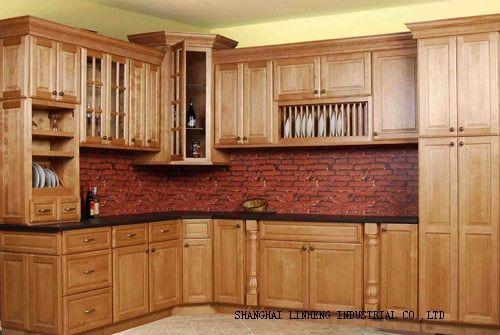 Gabinetes de cocina de estilo antiguo (LH-SW007)