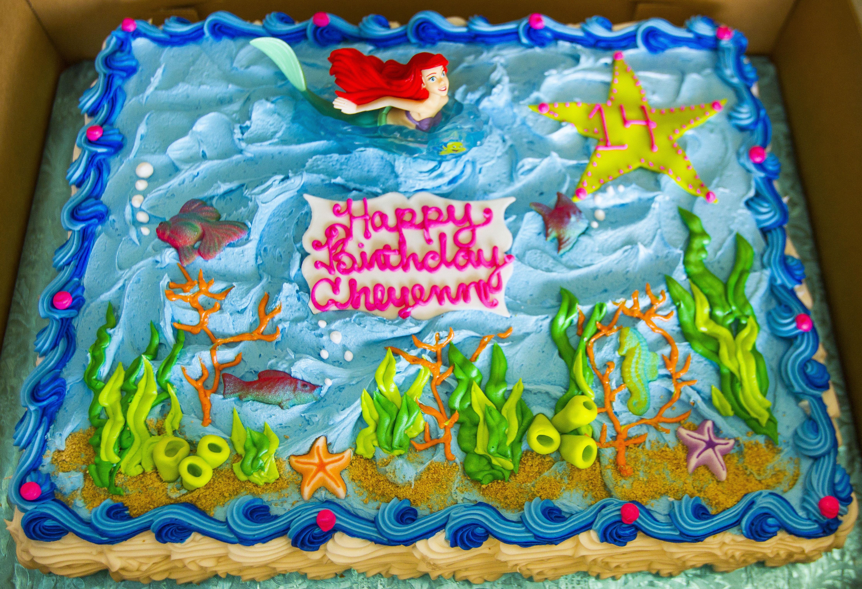 A Little Mermaid Sheet Cake Cake 144 Birthday Cake Kids