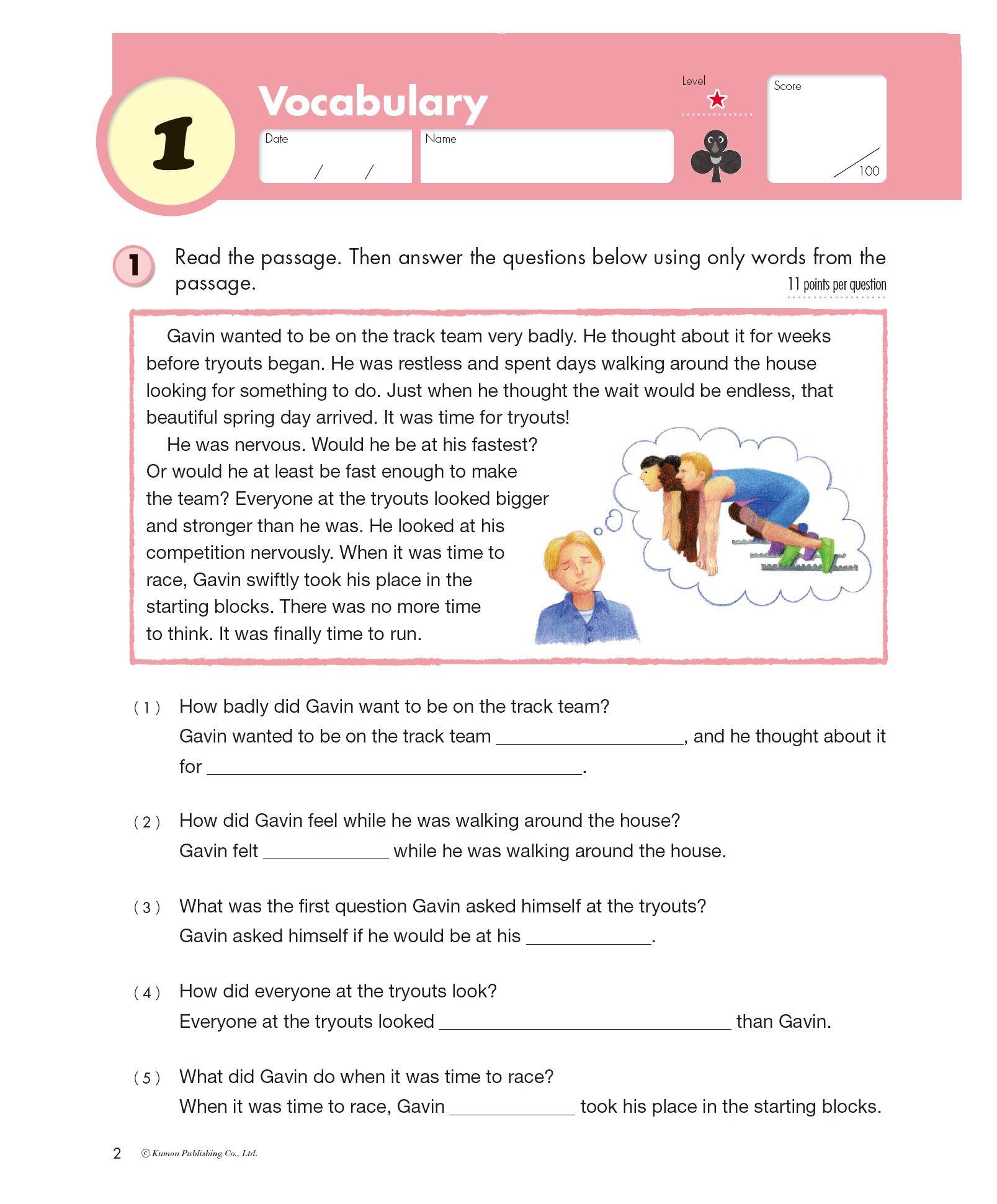 Kumon Publishing Kumon Publishing Grade 4 Reading Reading Kumon Vocabulary [ 1941 x 1607 Pixel ]