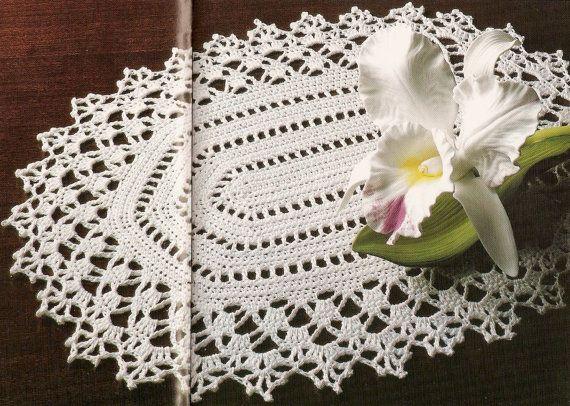 Vintage 1910 Oval Doily Crochet Pattern Pdf Instant Download