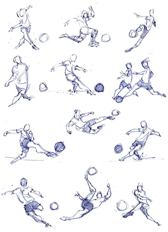 Soccer Reference Soccer Drawing Soccer Art Football Poses
