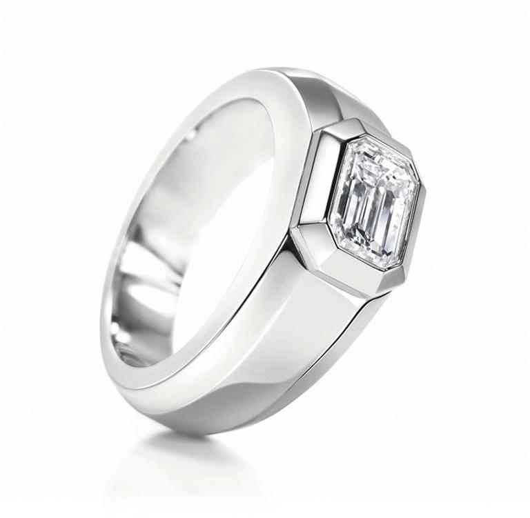 Harry Winston Rings For Men Men Diamond Ring Platinum Ring