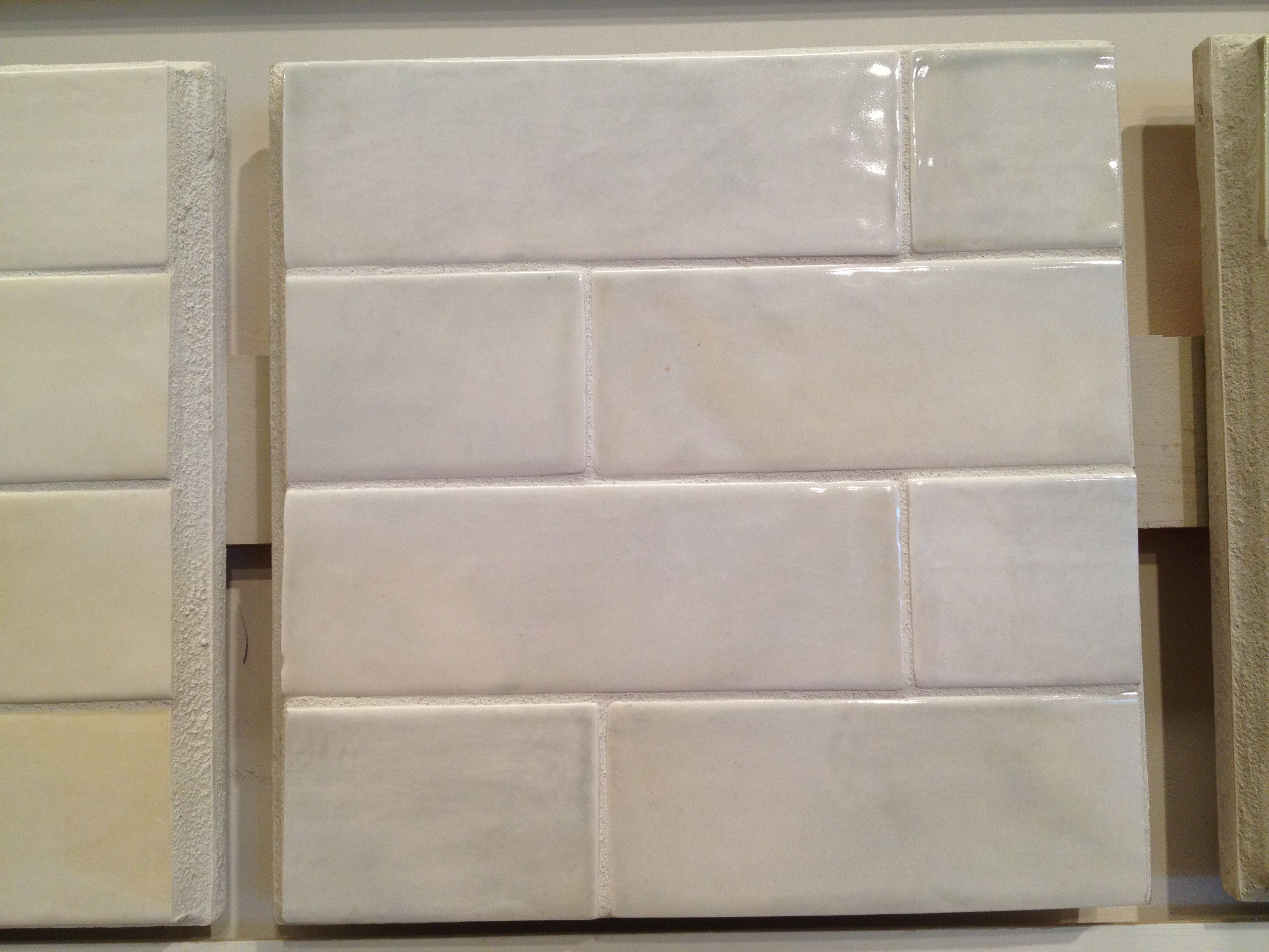 Kitchen Backsplash Tile White Glazed Ceramic Brick Tiles