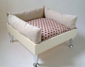 Red pois modern pet armchair - Modifica inserzione - Etsy