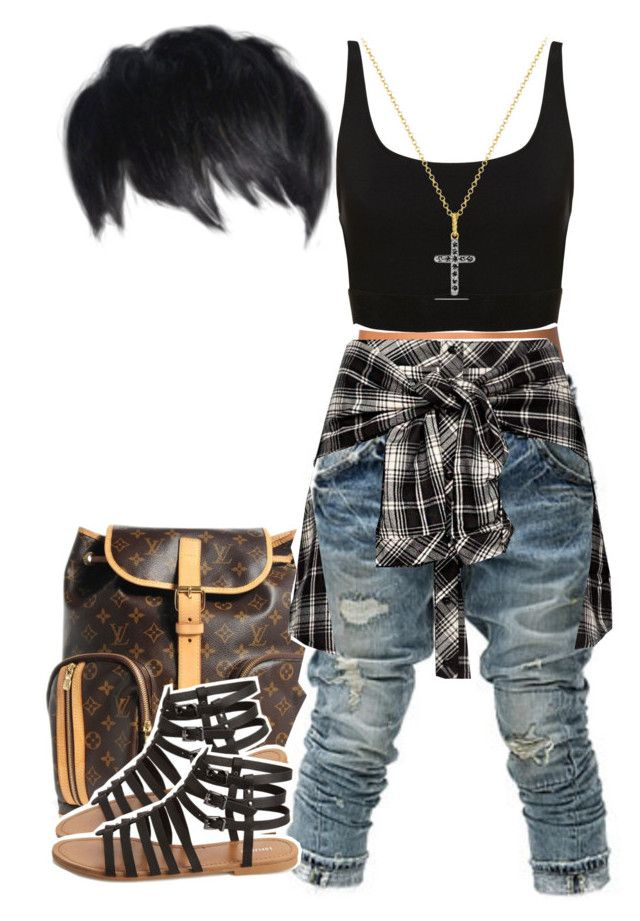 """""""Kontrol"""" by kiaratee ❤ liked on Polyvore featuring Louis Vuitton, NLY Accessories, BBon-J, David Yurman and Forever 21"""
