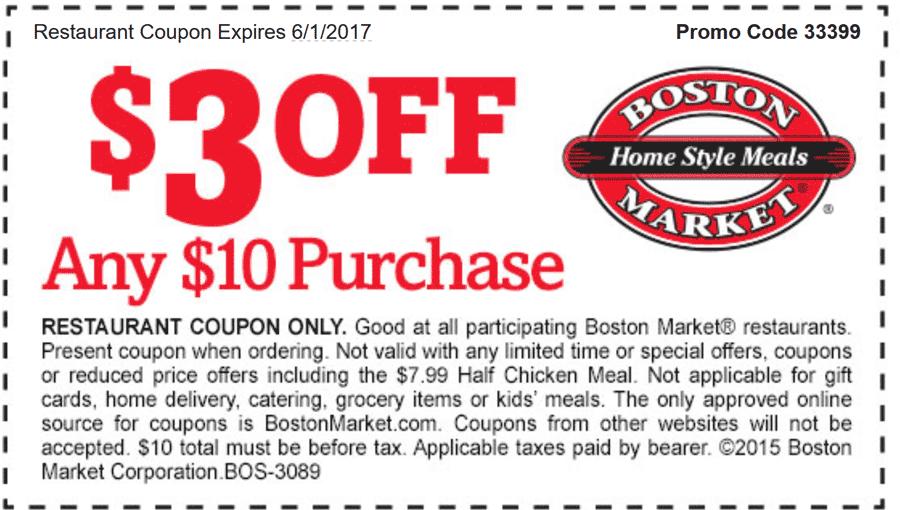 Boston Market 🆓 Coupons & Shopping Deals! Boston market