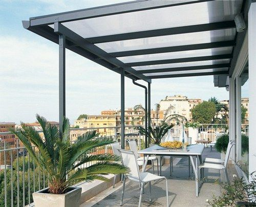 Pergola de hierro en terraza for the home pinterest for Tipos de cubiertas para casas