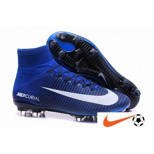 Nike Mercurial Superfly V Fg Soccer Shoes Blue White Red On Www Evensoccer Com Soccer Shoes Soccer Cleats Nike Soccer Cleats