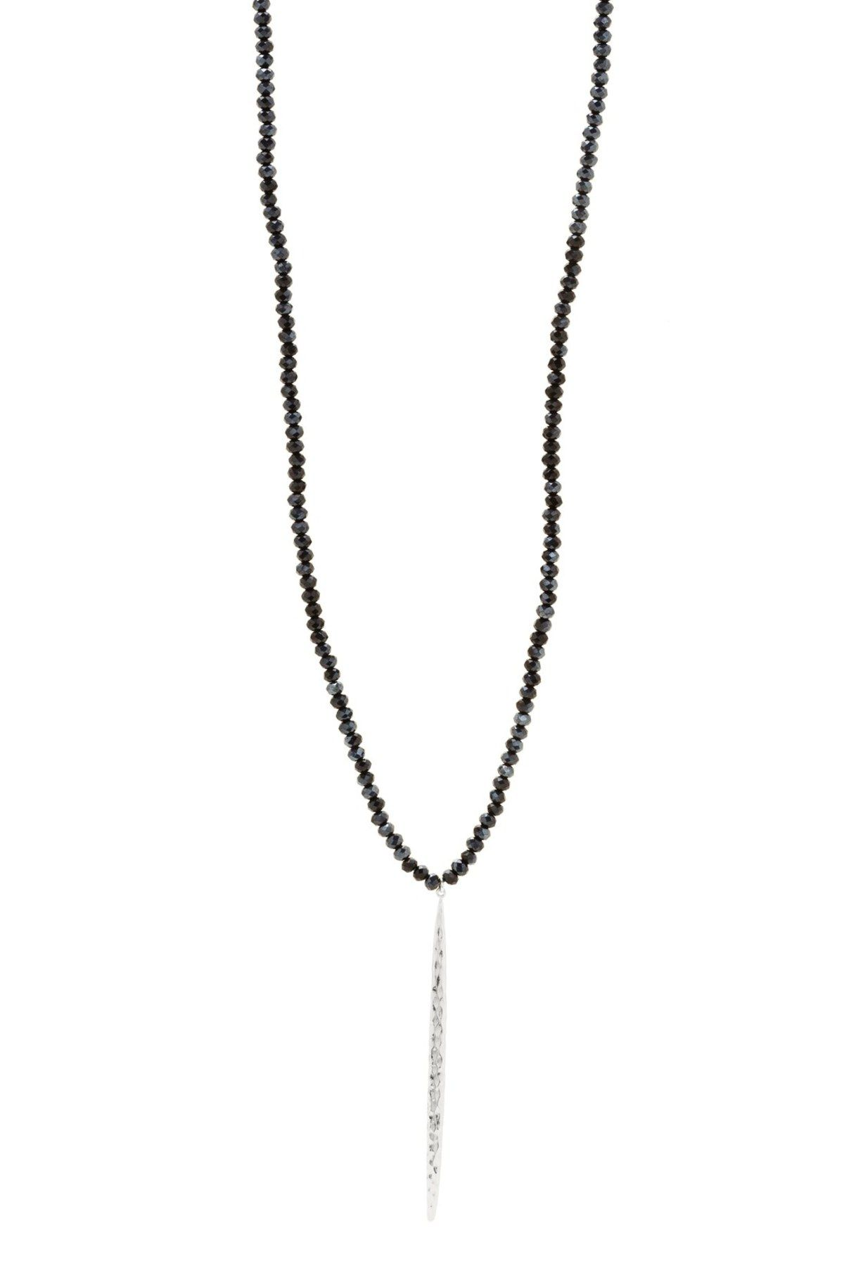 Nora Long Beaded Pendant Necklace