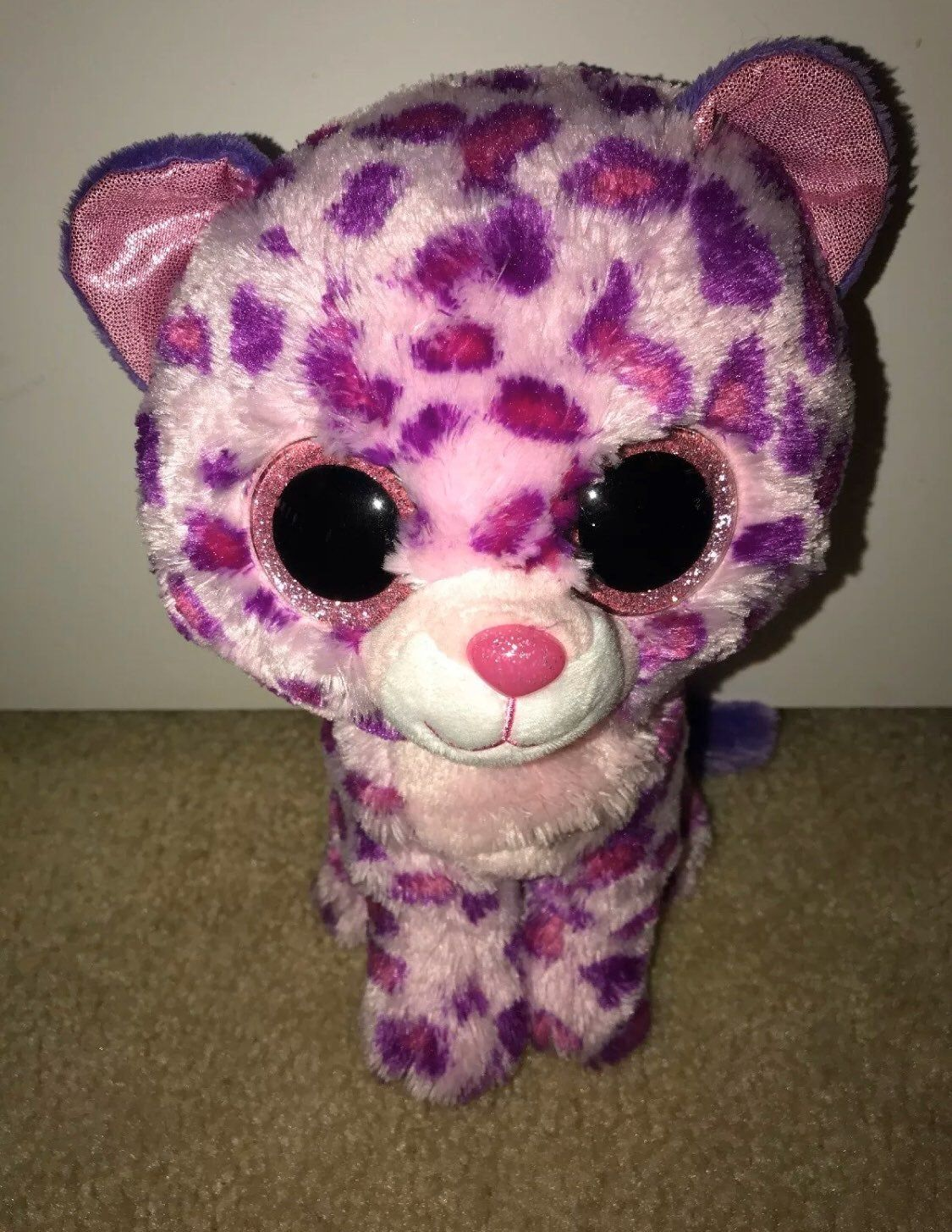 Ty Beanie Boos ~ FIONA the Cat 6 Inch NEW MWMT 2014 Justice Exclusive