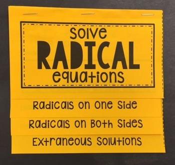 solve radical equations foldable equation students and algebra. Black Bedroom Furniture Sets. Home Design Ideas