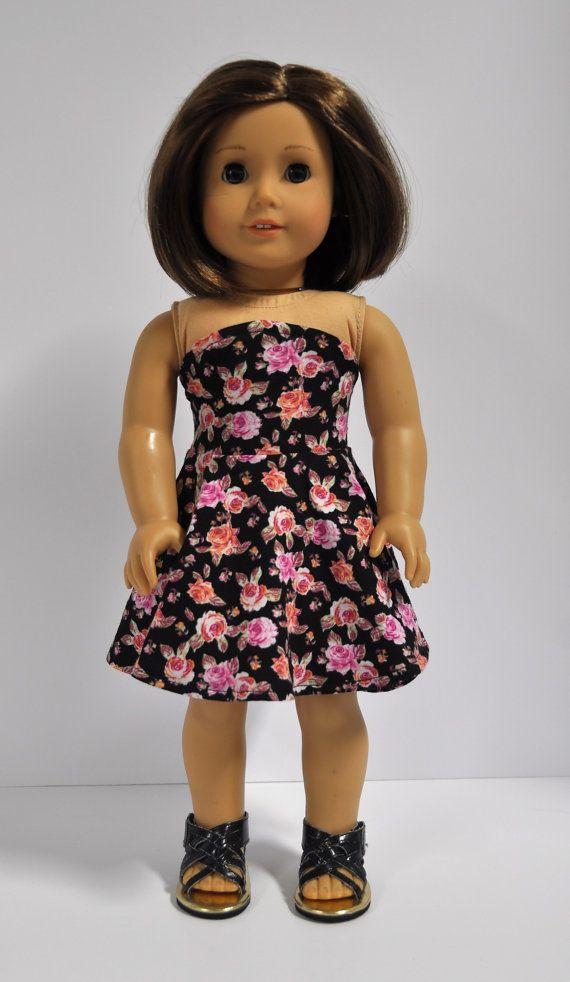 Black Pink and Coral Floral Print Bandeau Sleeveless Skater Dress 18 ...