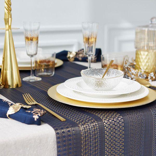 Gold stripes table runner - TABLE RUNNERS - TABLEWARE | Zara Home... ❤ & Gold stripes table runner - TABLE RUNNERS - TABLEWARE | Zara Home ...