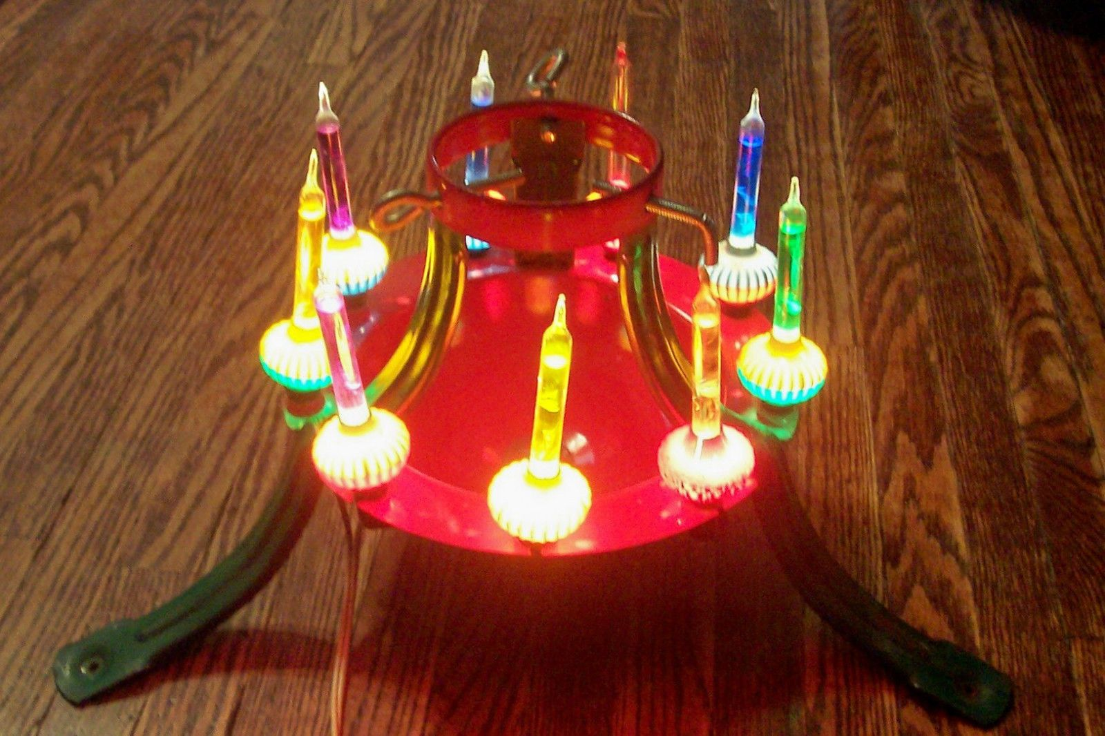 Vintage 40 S 50 S Electric Christmas Tree Stand W Noma