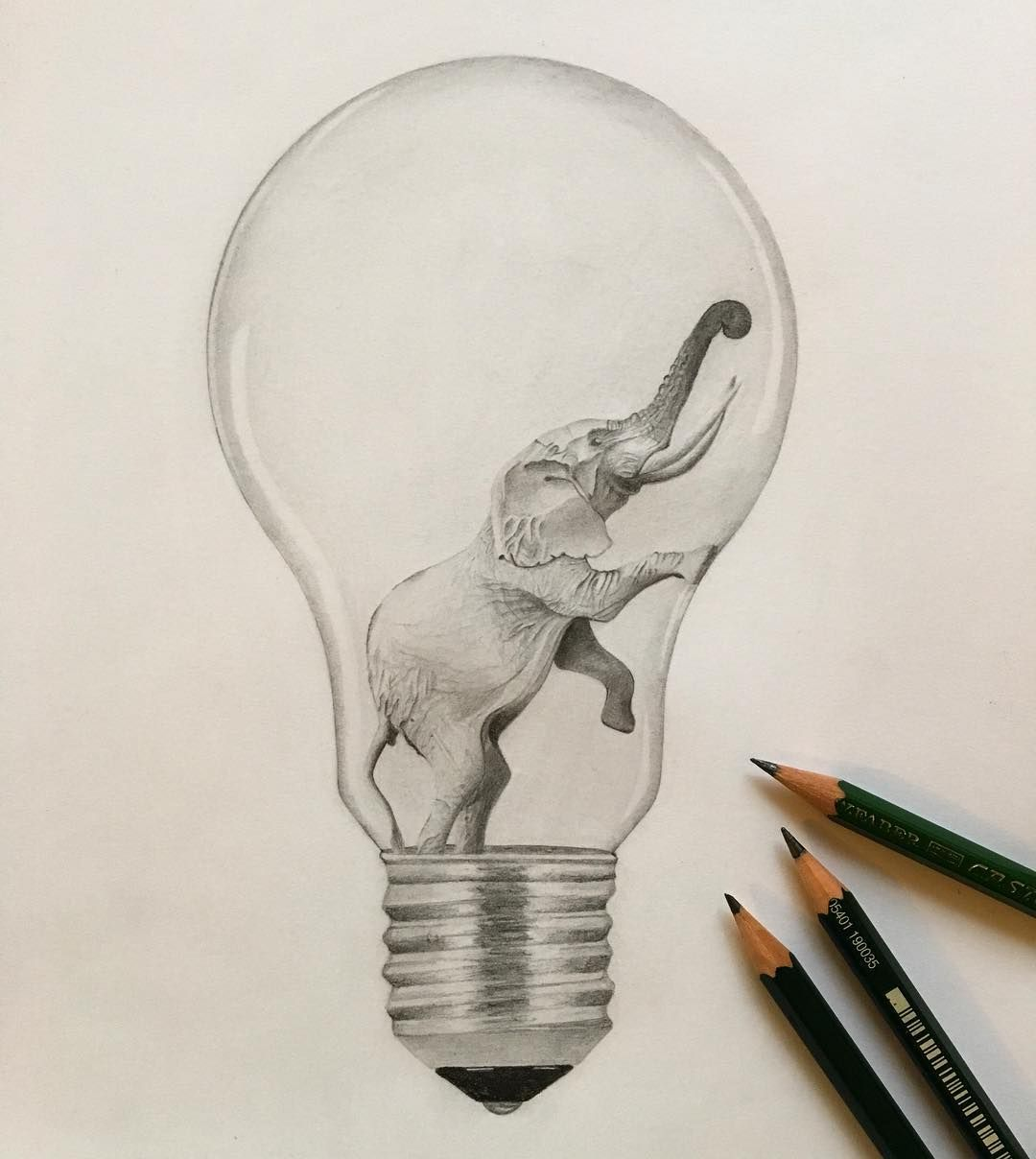 elephant lightbulb gl hbirne idea zeichnung bleistift drawing creative blackandwhite bw love. Black Bedroom Furniture Sets. Home Design Ideas