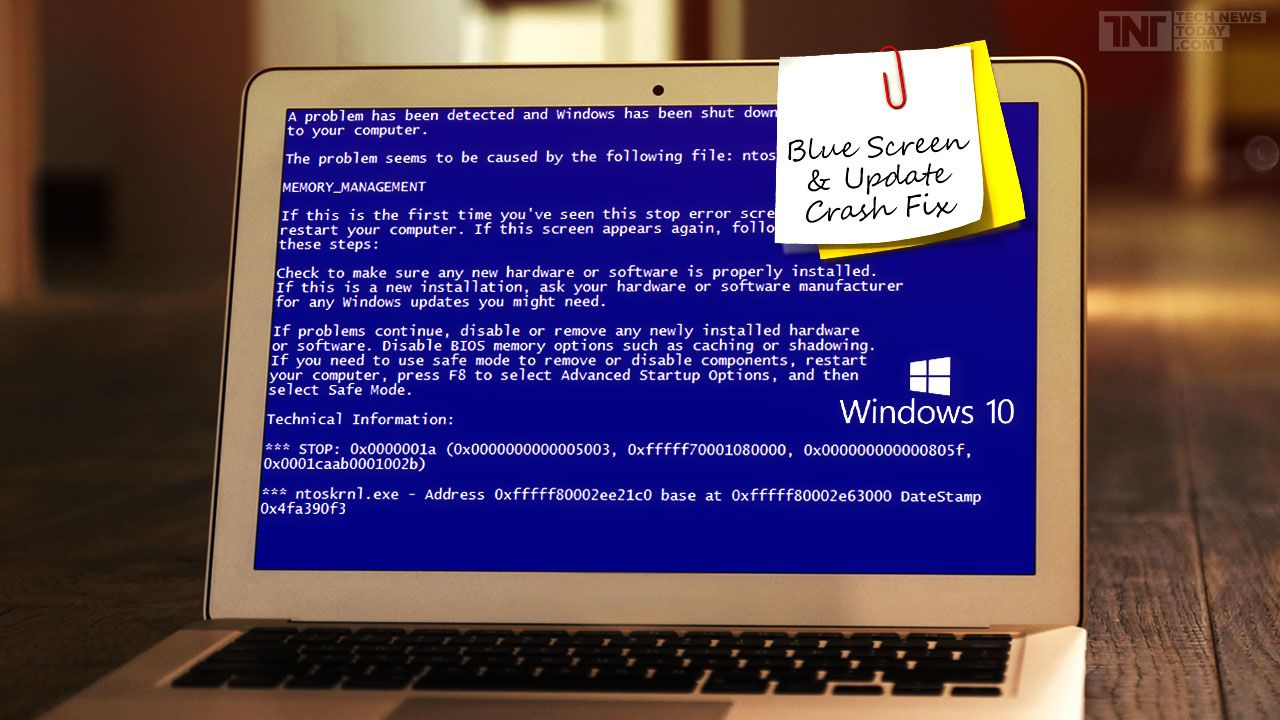 Windows 10 TH2 Update Stuck During Update And Blue Screen